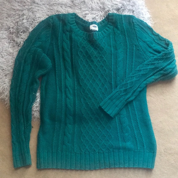 Old Navy Sweaters - See Blue green sweater - old navy